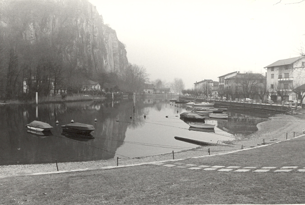 1980, probably Ponte Vecchio waterway, Italy