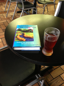 Rivers of Change book beside a Lagoon of Mead